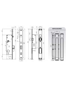 Cerradura electromecánica - Distancia 50 mm.
