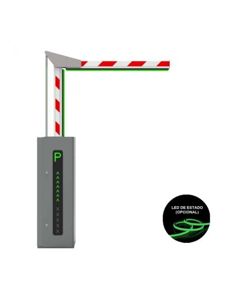 Barrera articulada para paso de vehículos con led