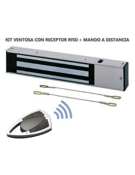 Cerradura electromagnetica 300Kg autonoma con RF