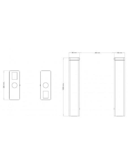 Pasillo óptico de última generación - Dimensiones