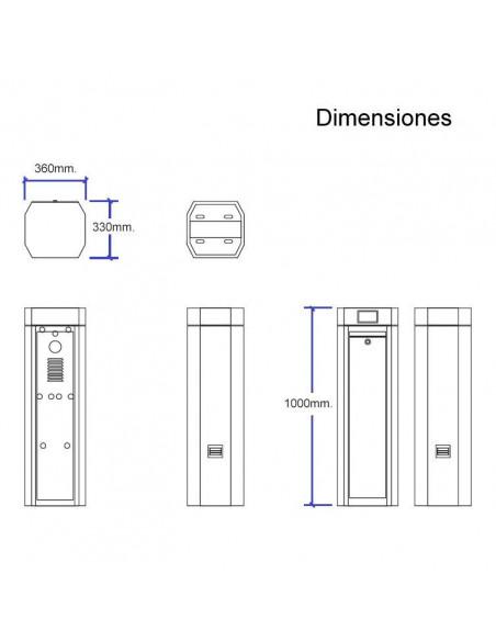 Dimensiones barrera vehicular