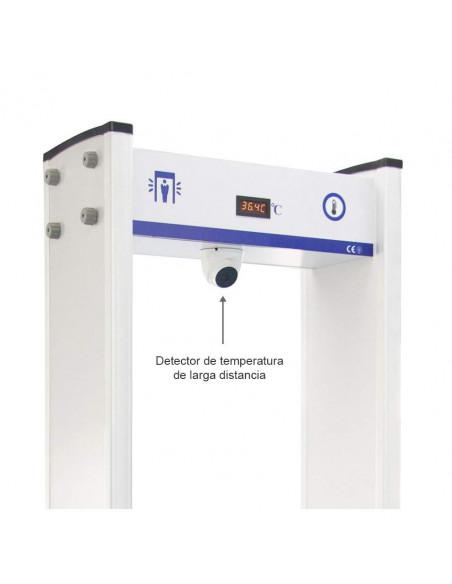 Arco detector de temperatura y detector de metales. Detalle cámara