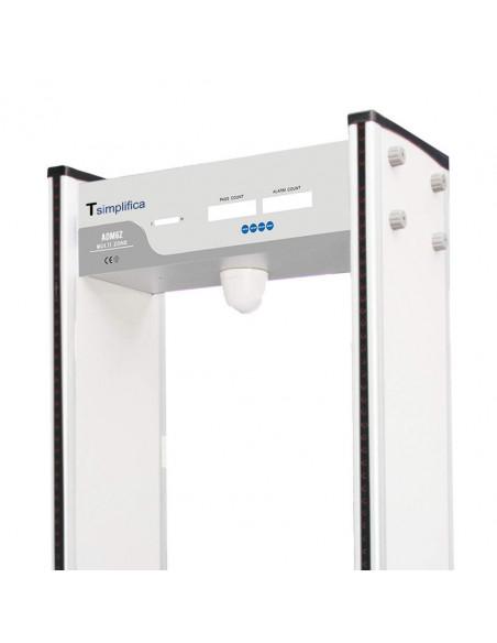 Arco detector de temperatura y detector de metales. Detalle luces.