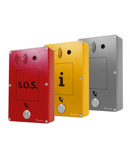 Intercomunicador Panphone IP-SIP Anti-vandálico SOS - Información - Neutro