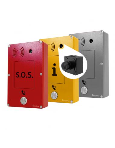 Intercomunicador Anti-vandálico SOS con Cámara - Emergencia - Información - Neutro