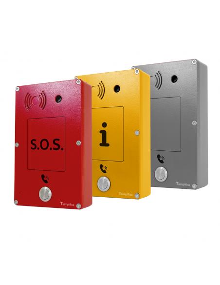 Intercomunicador Anti-vandálico SOS - Emergencia - Información - Neutro