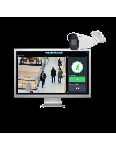 Control de Aforo en PC + cámara de pared