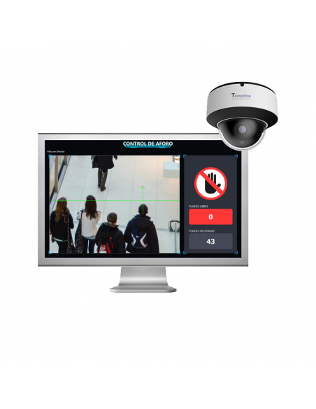 Control de Aforo en PC + cámara de techo