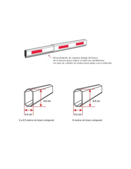 Brazo sin LED para barrera