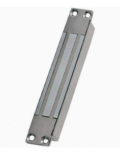 Cerradura electromagnética empotrable 300Kg Acero Inox monitorizada