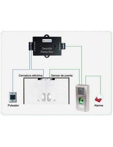Terminal de Control de Acceso por Huella y Proximidad Mifare IP65 - Security Relay Box