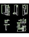 Cerraduras de huella dactilar - dimensiones