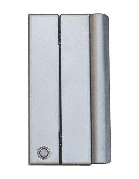 Cerradura electromagnética de cizalla con tirador y pulsador de salida