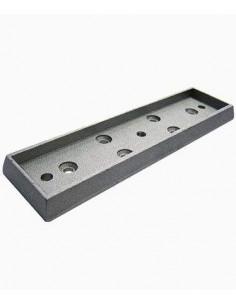 Anclaje de superfice para cerradura electromagnéticas de 500kg. Especial para puertas cortafuegos.