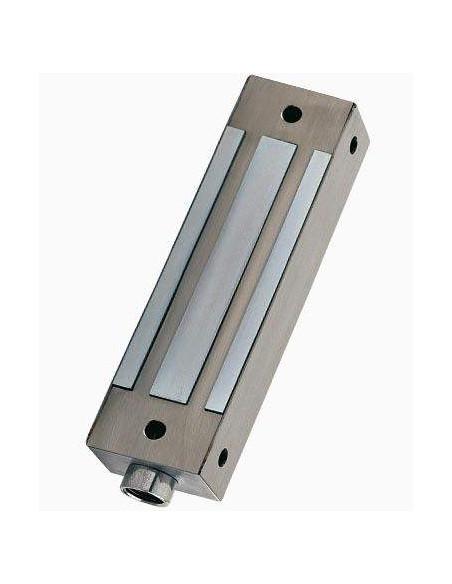 Cerradura electromagnética de superficie 500Kg Acero Inox monitorizada