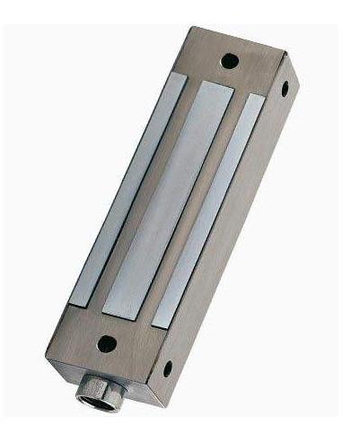 Cerradura electromagnética de superficie 400Kg Acero Inox monitorizada