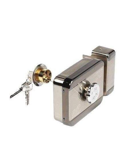 Cerradura motorizada de superficie con tirador