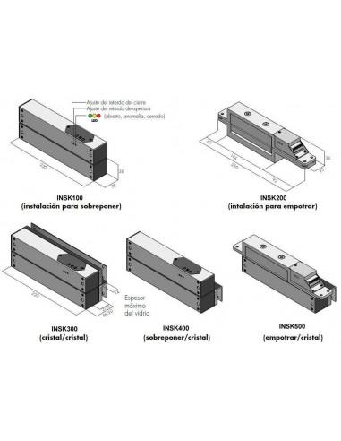 Cerradura electromagnética de cizalla de superficie Shearlock