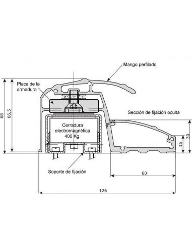 Tirador con Cierre Electromagnético de 400Kg