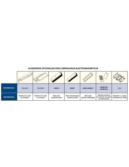 Cerradura electromagnética 300Kg. de superficie monitorizada