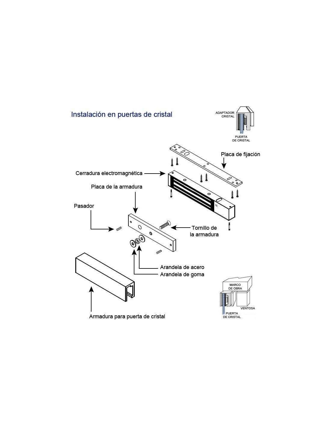 Cerradura el ctrica monitorizada de 300kg tsimplifica - Instalacion electrica superficie ...