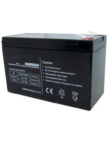 Batería de 12V - 7A para fuentes de alimentación con cargador