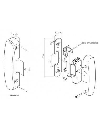 Cerradura para puertas con barras antipánico