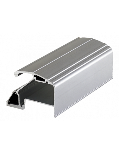 Tirador de aluminio de 2500mm con 2 cierres electromagnéticos de 400Kg