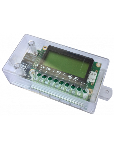 Receptor RF de 2 relés con display