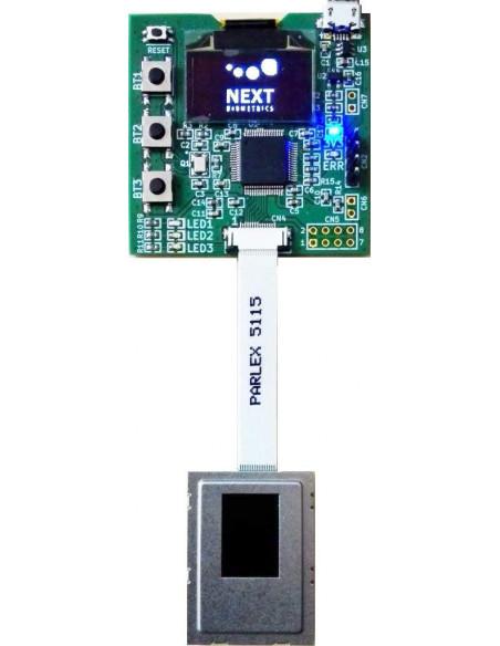 Placa de evaluación del lector de huellas para integración Match-on-Chip