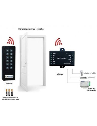 Teclado autónomo sin cables (Wireless) para control de acceso