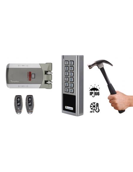 Cerradura invisible profesional mixta: PIN i/o Proximidad EM