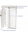 Molinete giratorio vertical de 4 aspas