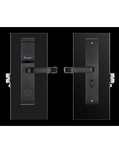 Cerradura RF para hoteles negra con llave de emergencia