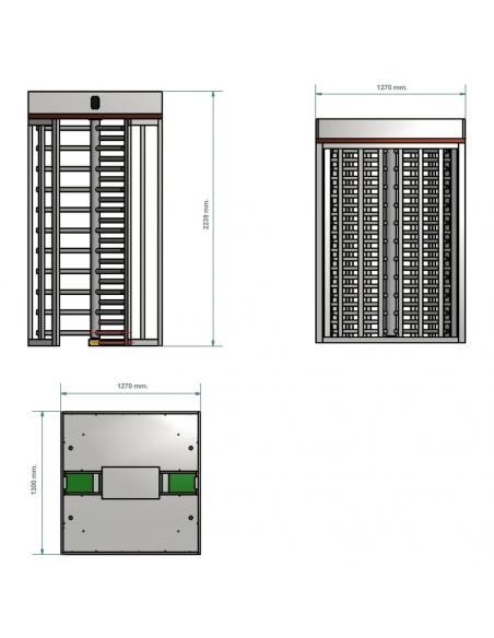 Molinete giratorio vertical de altura completa